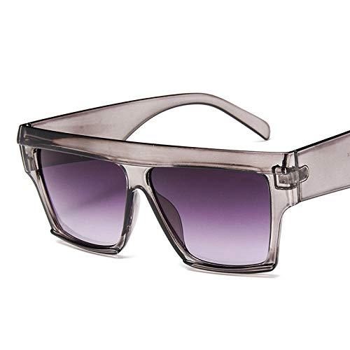 Gafas De Sol Retro Square Big Box Gafas De Sol Mujer Vintage Gafas De Sol Clásicas Hombres Compras Viajes Uv400 Gris