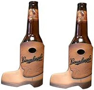 Leinenkugel's Cowboy Boot 12oz Beer Bottle Holder Kaddy Coolie Huggie Cooler Set of 2