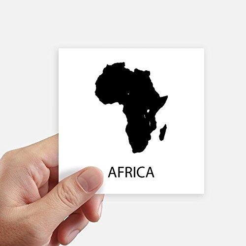 DIYthinker Adesivo de mapa de contorno do continente africano, adesivo quadrado à prova d'água, papel de parede, decalque de carro