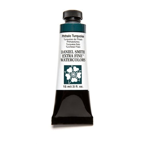 DANIEL SMITH Extra Fine Watercolor 15ml Paint Tube, Phthalo Turquoise
