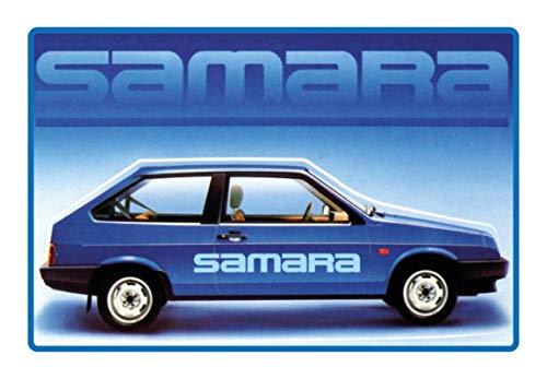 Blechschild 20x30cm gewölbt Lada Samara Auto Garage Werkstatt Deko Geschenk Schild