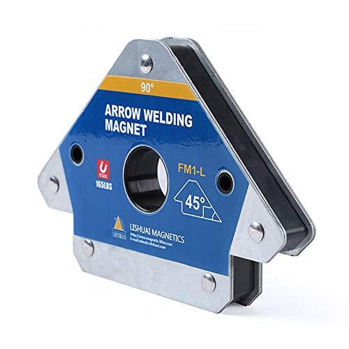 FM1-L 45 ° 90 ° 135 ° Ángulos disponibles Herramienta de fijación de la posición de la abrazadera del localizador de soldadura magnética