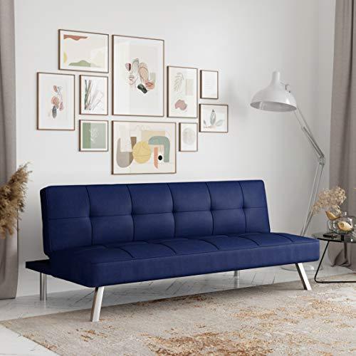 Serta Rane Collection Convertible Sofa, L66.1 x W33.1 x H29.5, Navy Blue