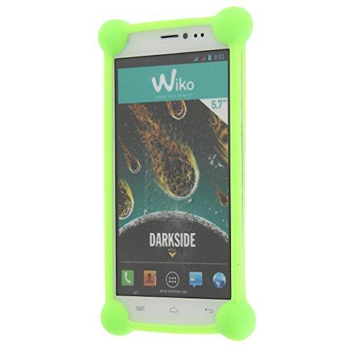 Sconosciuto Alcatel One Touch Go Play Cover Bumper Antiurto in Silicone Verde di qualità by PH26