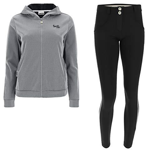 FreDDY WR.UP®-in Trainingsanzug mit Push-up-Hose 7/8 und Sweatshirt aus Lurex, Mehrfarbig S