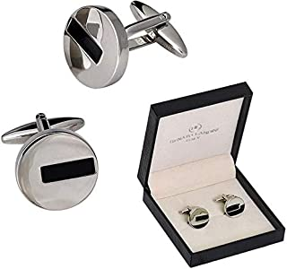 BRASS WITH CHROME PLATED CUFFLINK FROM RENATO LANDINI