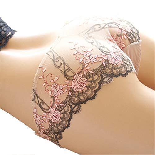 LANCHONG Ropa Interior Femenina, Sexy Panties for Women Naughty, Calzones de Mujer - Womens Underwear Lace Trim Soft Sexy Panties (Lilac, M)