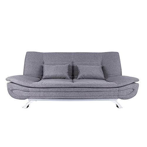Sleeper Chair Bed, Sofa Chair, Folding Sofa Bed, 3 Seater Click Clack Sofabed Adjustable Floor Lounger Sleeper Gaming Chair with Pillow, Padded Seat for Bedroom, Living Room and Office (Gray)