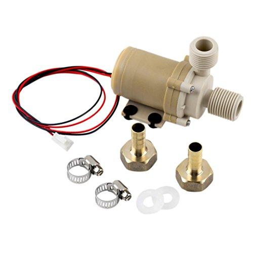 Motor sin cepillo de la circulación de la bomba de agua solar 12V 3M Bomba de la circulación del agua caliente/de enfriamiento 212 F w/Coupler para los sistemas solares caseros