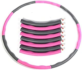 Double F Weighted Exercise Wave Hula Hoop 8 Section Detachable Hula Hoop Foam Padded Hula Hoop