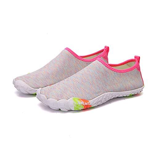 ZLDGYG Zapatos de agua para mujer, zapatos de playa, zapatos de natación, zapatos de piscina, de secado rápido, para natación, surf, buceo, navegación, yoga, aeróbicos (tamaño: 38)