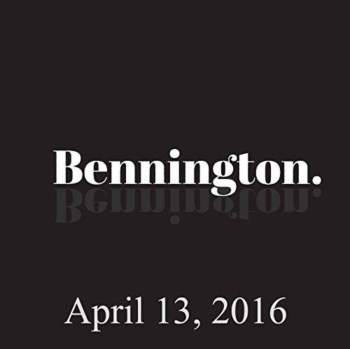 Bennington, April 13, 2016 cover art