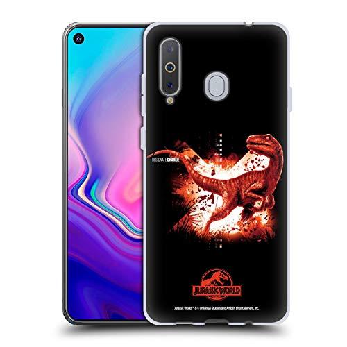 Head Hülle Designs Offizielle Jurassic World Velociraptor Schluessel Kunst Soft Gel Handyhülle Hülle Huelle kompatibel mit Samsung Galaxy A8s (2018)