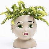 Female Head Design Succulents