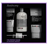 Anthony The Perfect Shave Kit, Set Includes 8 fl oz Glycolic Facial Cleanser, 2 fl oz Pre- Shave +...
