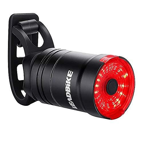 Fahrrad Rücklicht, Smart Fahrradlicht USB Wiederaufladbare Fahrradrücklichter Sicherheit Rot LED Rücklicht Fahrrad IP65 wasserdichte Nacht Warn Rücklichter Fahrradlampe
