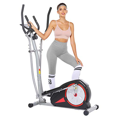 Elliptical Machine Elliptical Training Machines Magnetic Smooth Quiet Driven Elliptical Exercise Machine for Home Use (Black)