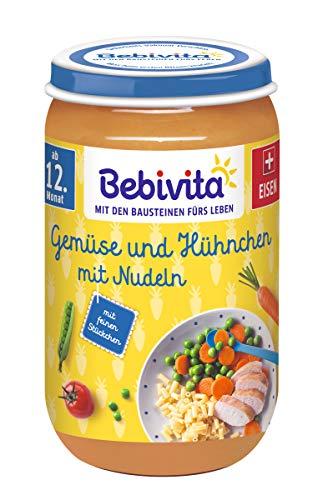 Bebivita Gemüse und Hühnchen mit Nudeln, 6er Pack (6 x 250 g)