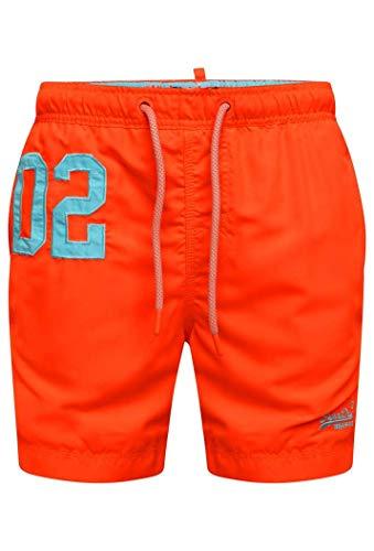 Superdry Water Polo Swim Short, Orange (Havana Orange Vqh), S Homme