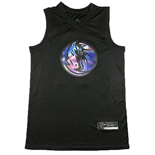 MEASBQ Mavericks No.77 Luka Doncic Basketball Jersey, la última versión del Arco Iris del Uniforme de Baloncesto, colección de Fans y Entrenamiento de Competencia L
