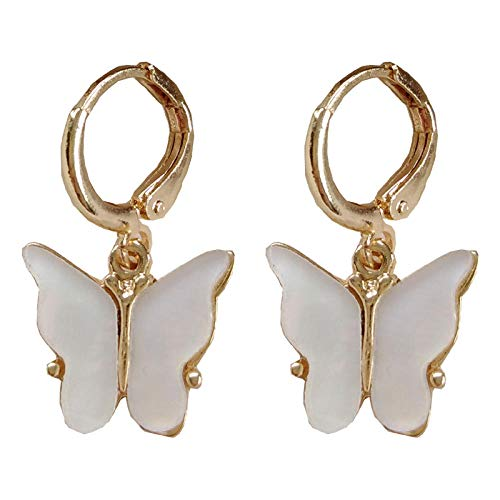 Pendientes Mujer Moda Mujer Pendientes De Gota De Mariposa Pendientes Dulces Joyería Fashion-A