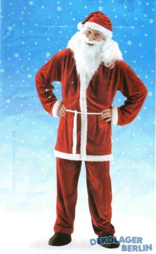 5 teiliges costume da Babbo Natale in peluche