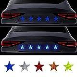 6 unids de advertencia de seguridad reflectante pegatinas Pentagrama Anti-colisión Impermeable Etiquetas reflectantes Puertas de Automóviles Advertencia Pegatinas (Size : 6pcs)