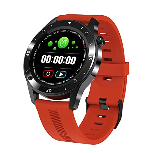 QFSLR Smartwatch Reloj Deportivo con Monitor De Frecuencia Cardíaca Monitor De Presión Arterial Monitoreo De Oxígeno En Sangre Fitness Tracker Podómetro,Naranja