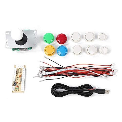 Arcade Game Button und Joystick Controller Kit, DIY Arcade Game Buttons Combat Joystick Rocker Kit für Raspberry Pi und PC-Spiele
