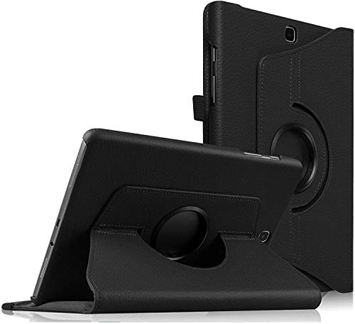 Theoutlettablet - Funda Giratoria para Samsung Galaxy Tab S2 9.7 - Rotación de 360 Grados con Función de Soporte y Auto-Reposo/Activación para Modelo de SM-T810N / T815N / T813N / T819N, Negro
