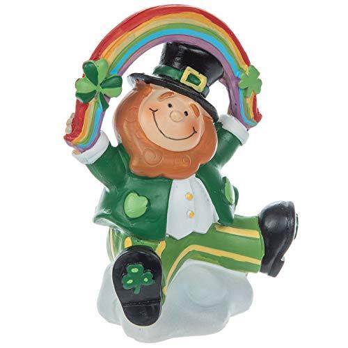 Leprechaun with Rainbow Figurine Table Decoration St Patrick's Day Home Decor