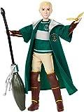 Harry Potter Poupée Quidditch Drago Malefoy de 27cm avec Balai Nimbus 2001 et vif d'or, à collectionner, jouet enfant,...