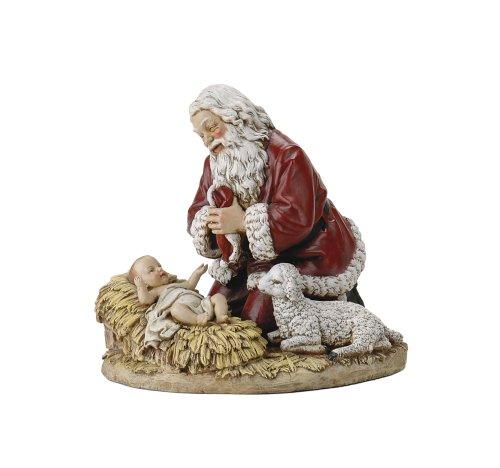 Image of Kneeling Santa Figurine by Joseph Studio