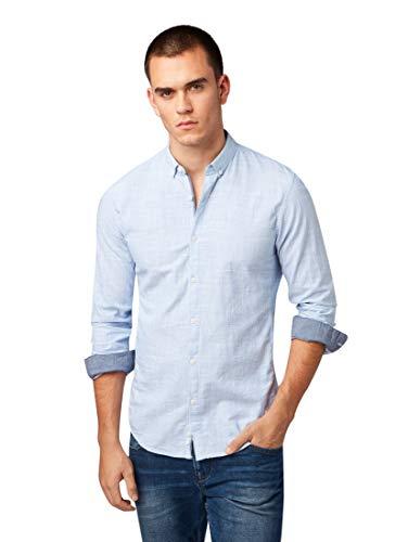 TOM TAILOR DENIM Blusen, Shirts & Hemden Dezent gemustertes Hemd Blue Younder, S