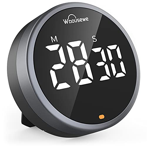 WHOUSEWE Kitchen Timer Magnetic Countdown and Countup Timer with Large LED Display,Volume Adjustable Digital Timers, Easy for Cooking & for Seniors and Kids to Use