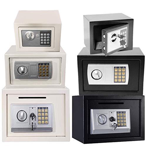 Safe Box - Caja de Seguridad (4,6 L, 8,5 L, 16 L), Color Gris y Blanco, Blanco