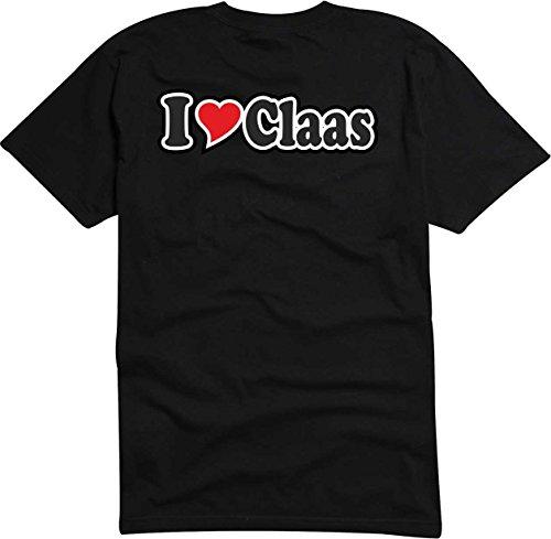 Black Dragon - T-Shirt Herren schwarz - Ich Liebe mit Herz - I Love Claas S