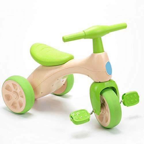 SNSN Triciclo Niños, Andador Bicicleta De Equilibrio para Bebés con Pedales, Caja Almacenamiento, Triciclo Niños Pequeños 1 2 3 Años En Interiores Y Exteriores, Juguete Bicicleta para Niños 3 Ruedas