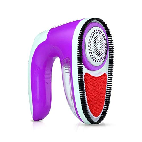 Fashion·LIFE Fusselrasierer für Kleidung und Textilien - USB aufladbar Fusselentferner Fusselfräse Fusselrasierer Elektrischer Fusselentferner,Lila