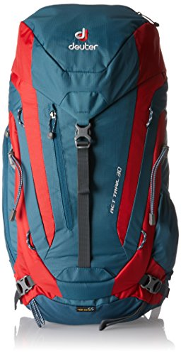 Deuter ACT Trail 30 Hiking Backpack, Arctic/Fire