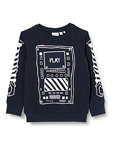 NAME IT Jungen NMMBOBOT LS Sweat UNB Sweatshirt, Blau (Dark Sapphire), 98