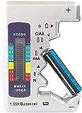 tka Köbele Akkutechnik Batteriemessgerät: Kompakter Multi-Batterietester mit LCD-Display für gängige Batterien (Akkutester)