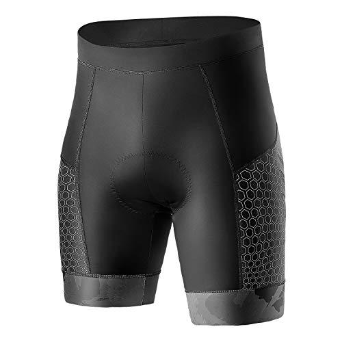 INBIKE Pantalones Corto Ciclismo Hombre Verano Reflexivas con 3D Badana Gel Esponja