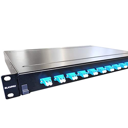 Fiber Optic Shelf Patch Panel Rack-Mount 1U 24 Ports Factory Loaded LC SM