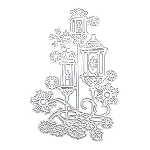Laterne, Schneeflocke, Metall-Stanzformen für Grußkarten, Stanzformen für Kartenherstellung, Prägeschablonen für Scrapbooking, DIY, Alben, Papierkarten, Kunsthandwerk, Dekoration