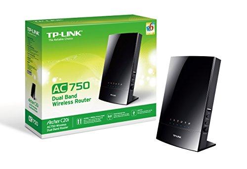 TP-Link Archer C20i AC750 Dualband WLAN Router(für Anschluss an Kabel-/DSL-/GlasfaserModem, 300 Mbit/s(2,4GHz)+867 Mbit/s(5GHz), IPv6, USB 2.0, Print/Media/FTP Server)