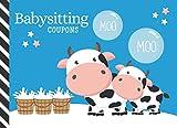 Babysitting Coupons: Cartoon Cow Milk Bucket Art - Blue White Black Theme / 50 Vouchers / ...