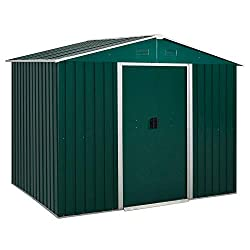 ✅LARGE STORAGE SPACE: Enough room for your garden tools, equipment, furniture and even outerwear. ✅STURDY: Made from galvanized steel to ensure a durable structure. Rust-resistant for longevity outdoors. ✅VENTILATION SLOTS: Two on the front and two o...