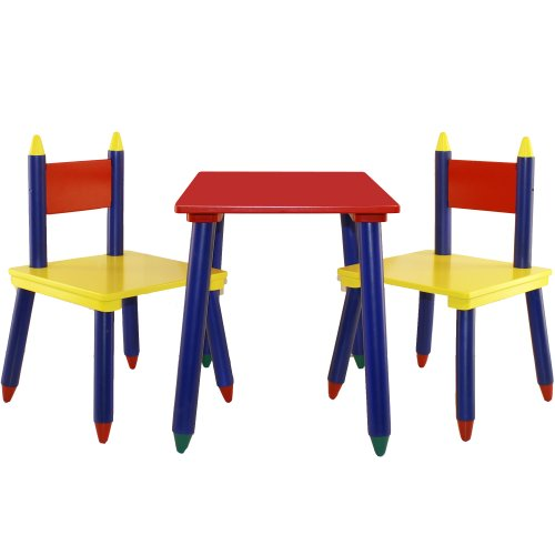 3 Piece Furniture Crayon Table & Chairs Set for Kids