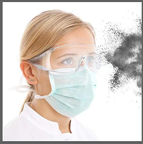 Occhiali Protettivi E Igienici di Sicurezza,Clear Occhiali antiappannamento e AntiGraffio per Lavoro e Sport, Uomini, Donne